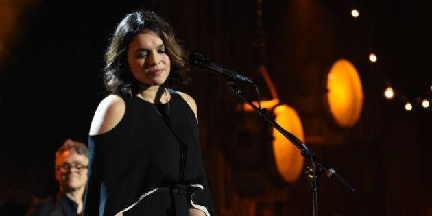 LOS ANGELES, CA - FEBRUARY 10: Musician Norah Jones performs onstage during MusiCares Person of the Year...