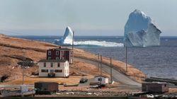 Ces icebergs offrent une vision hors de l'ordinaire le long de la côte de