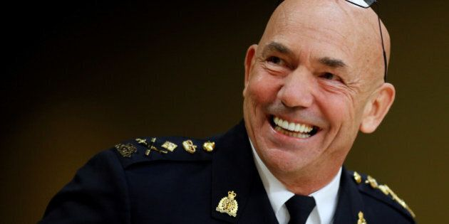 Royal Canadian Mounted Police (RCMP) Commissioner Bob Paulson waits to testify before the Senate National...