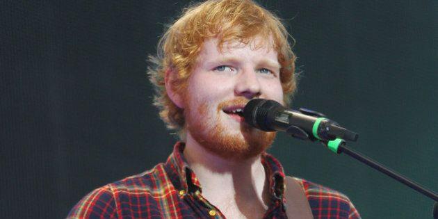 DUBLIN, IRELAND - JULY 24: Ed Sheeran performs at Croke Park on July 24, 2015 in Dublin, Ireland. (Photo...