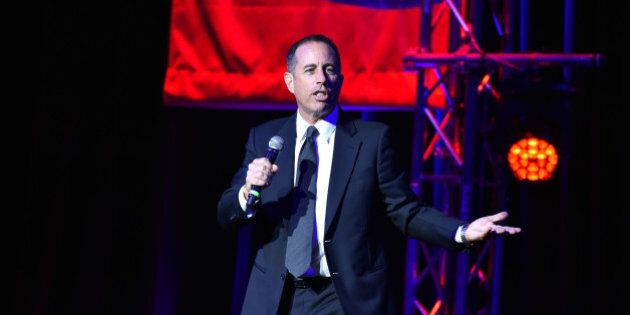 NEW YORK, NY - NOVEMBER 01: Jerry Seinfeld performs on stage during 10th Annual Stand Up For Heroes at The Theater at Madison Square Garden on November 1, 2016 in New York City. (Photo by Theo Wargo/Getty Images)