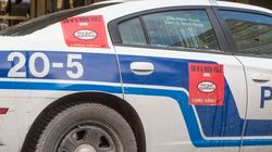La saga des autocollants sur les voitures de police du SPVM n'est pas
