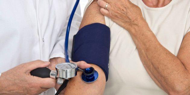 Blood pressure senior. (Photo Illustration by: Media for Medical/UIG via Getty