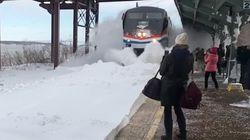 Tempête: ils n'auraient pas dû attendre le train si près des