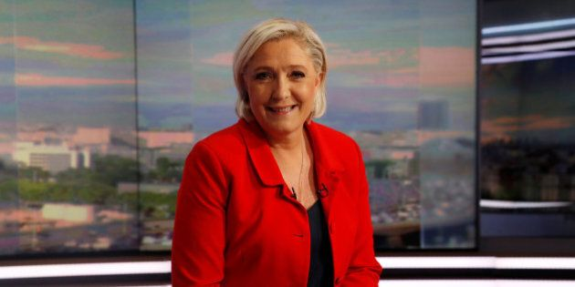 Marine Le Pen, former French presidential election candidate for the far-right National Front (FN) party,...
