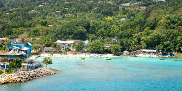 Beautiful coast of Ocho Rios, Jamaica