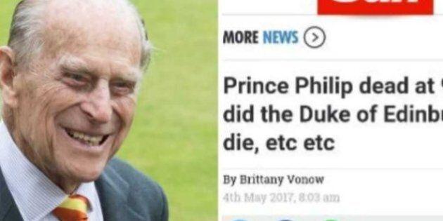 «The Sun» a annoncé par erreur la mort du prince