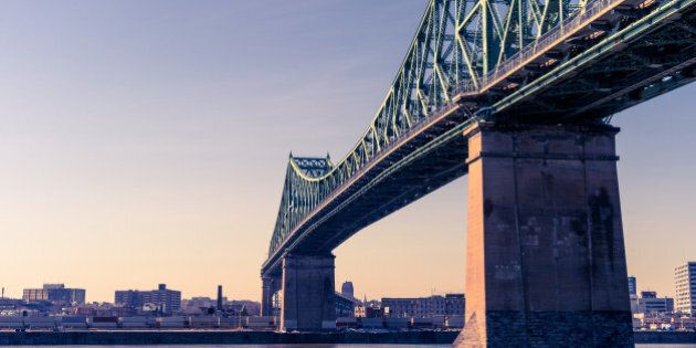 Jacques-Cartier Bridge in Montreal, at