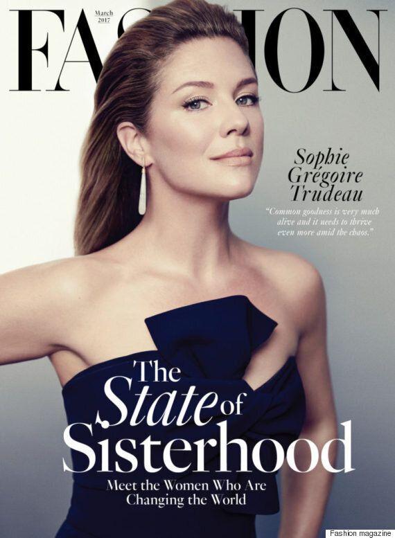 Sophie Grégoire est magnifique en couverture de Fashion magazine du mois de mars
