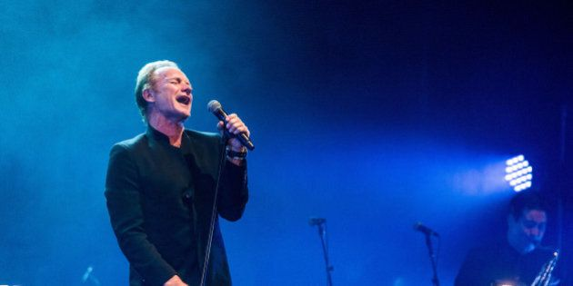 LOS ANGELES, CA - JANUARY 25: Sting performs during a night of celebrating David Bowie at The Wiltern...