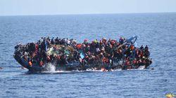Chavirement d'un bateau de migrants en mer