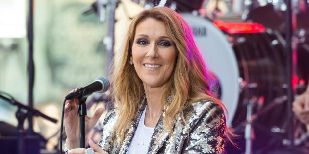 NEW YORK, NY - JULY 22: Singer Celine Dion performs on NBC's 'Today' at Rockefeller Plaza on July 22,...