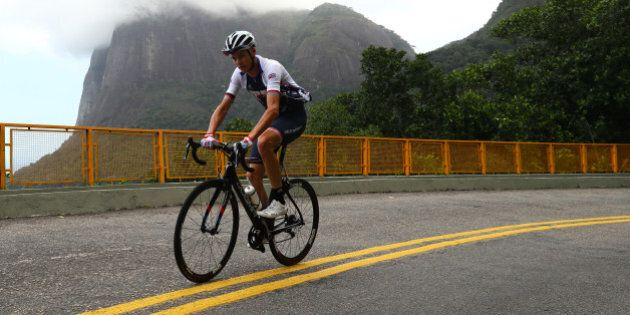 RIO DE JANEIRO, BRAZIL - AUGUST 04: Great Britain cyclist Chris Froome trains as Rio prepares for the...