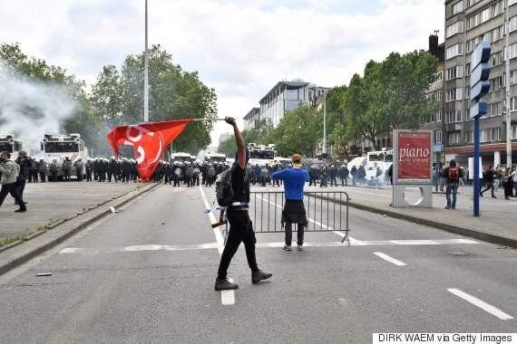 Une manifestation en Belgique tourne au
