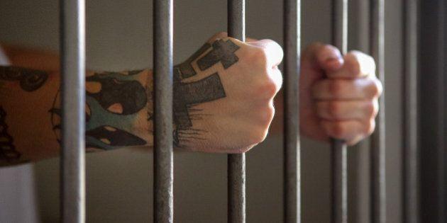 Man behind prison