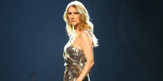 LAS VEGAS, NEVADA - MAY 22: Celine Dion is seen on stage during the 2016 Billboard Music Awards held...