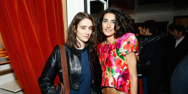 PARIS, FRANCE - FEBRUARY 28: Natacha Ramsay-Levi and Brune Buonoman attend the Mastermind Magazine launch...