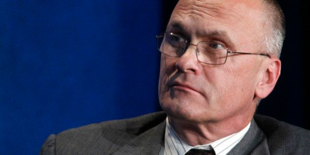 Andrew Puzder, CEO of CKE Restaurants, takes part in a panel discussion