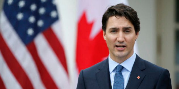 Canadian Prime Minister Justin Trudeau addresses a joint news conference with U.S. President Barack Obama...