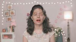 Un mannequin défiguré à l'acide en vedette au premier jour de la Semaine de mode de New