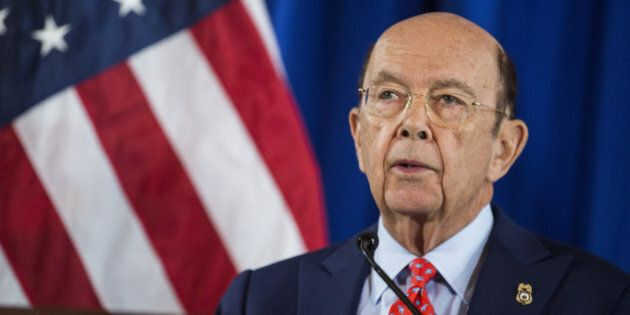 Wilbur Ross, U.S. Secretary of Commerce, speaks during a news conference at the U.S. Department of Commerce...