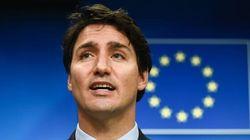 Justin Trudeau en Europe pour vanter le
