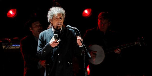 Singer Bob Dylan performs during a segment honoring Director Martin Scorsese, recipient of the Music+...