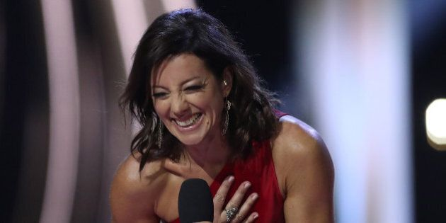 Sarah McLachlan, who was inducted into the Canadian Music Hall of Fame, performs during JUNO awards show at the Canadian Tire Centre in Ottawa, Canada, April 2, 2017. / AFP PHOTO / Lars Hagberg (Photo credit should read LARS HAGBERG/AFP/Getty Images)