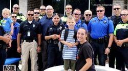 Ces policiers posent un geste touchant pour des enfants qui ont perdu leur père