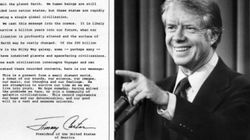 Il y a 40 ans, un président américain écrivait aux extraterrestres une lettre qui voyage encore dans
