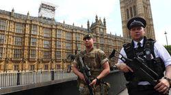 Un homme armé d'un couteau arrêté devant le parlement