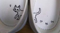 Ces Japonais dessinent sur les chaussons de leurs enfants pour leur éviter la confusion pied gauche pied