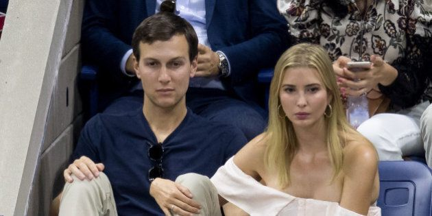 NEW YORK, NY - SEPTEMBER 11: Jared Kushner and Ivanka Trump seen at USTA Billie Jean King National Tennis...