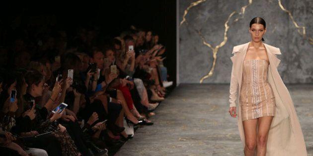 SYDNEY, AUSTRALIA - MAY 16: Bella Hadid walks the runway during the Misha Collection show at Mercedes-Benz...