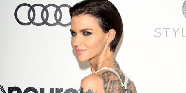 WEST HOLLYWOOD, CA - FEBRUARY 26: Ruby Rose arrives at the 25th Annual Elton John AIDS Foundation's Oscar...