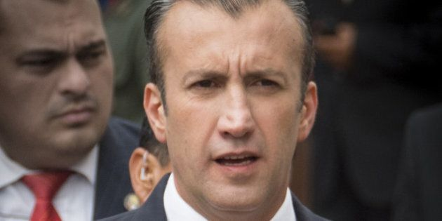 Tareck El Aissami, Venezuela's vice president, arrives at the Supreme Court for Nicolas Maduro, Venezuela's...