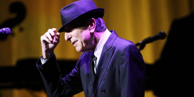 Leonard Cohen performs on the Old Ideas World Tour, at The Fabulous Fox Theatre on Friday, March 22,...