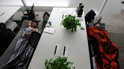 Des employés chinois vivent désormais sur leur lieu de travail