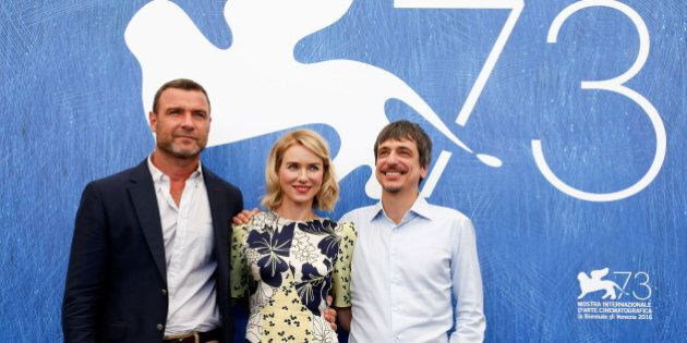 Actor Liev Schreiber, actress Naomi Watts and director Philippe Falardeau (L-R) attend the photocall...