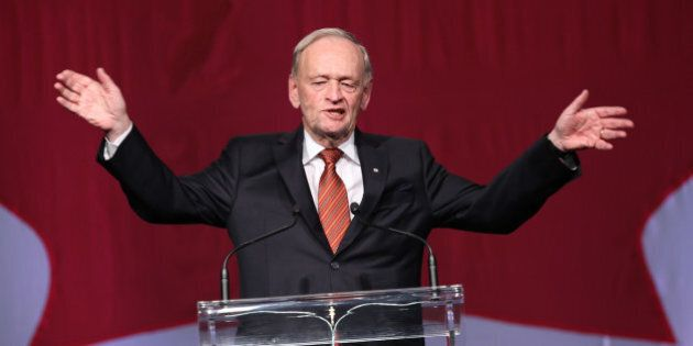 TORONTO, ON - JANUARY 21: Former Prime Minister Jean Chrétien is the focus of a tribute at the Westin Harbour Castle hotel in Toronto for A-list crowd.        (Richard Lautens/Toronto Star via Getty Images)