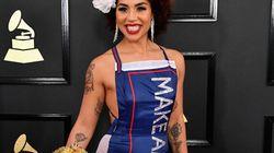 Le tapis rouge des Grammy Awards... forcément