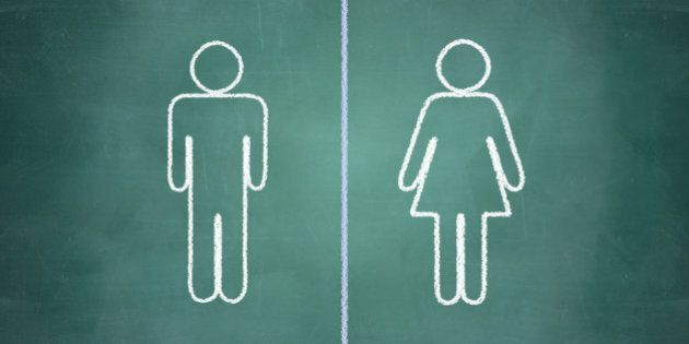 gender equal opportunities concept, man and woman side by