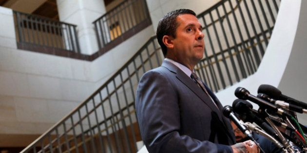 House Permanent Select Committee on Intelligence Chairman Devin Nunes (R-CA) speaks to the media about...
