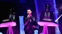 Le Canadien The Weeknd sur scène avec Daft Punk aux 59es