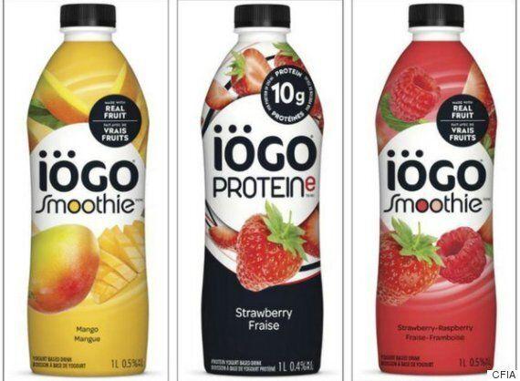Un rappel pour des produits de yogourt iögo qui pourraient contenir du