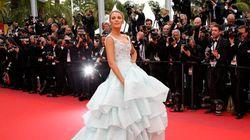 Festival de Cannes 2016: volants et traînes à l'honneur pour le 3e jour des festivités