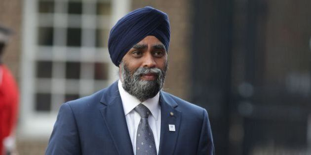 Canadian Minister of National Defence Sajjan Harjit arrives for the UN Peacekeeping Defence Ministerial...