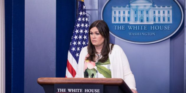 White House Principal Deputy Press Secretary Sarah Huckabee Sanders delivered the press briefing in the...