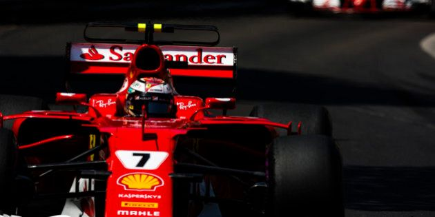 07 RAIKKONEN Kimi from Finland of Ferrari SF70-H team scuderia Ferrari ahead of 05 VETTEL Sebastian from...