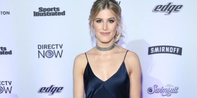 NEW YORK, NY - FEBRUARY 16: Eugenie 'Genie' Bouchard attends Sports Illustrated Swimsuit 2017 Launch...
